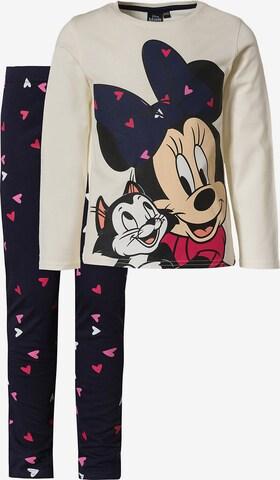 Disney Minnie Mouse Schlafanzug in Weiß