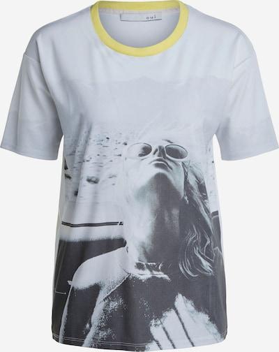 OUI Shirt in de kleur Geel / Grijs / Zwart gemêleerd, Productweergave