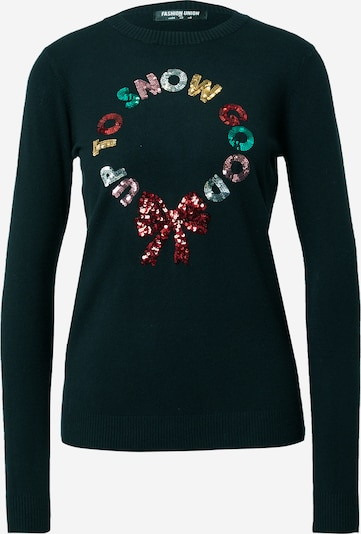 Fashion Union Pullover 'CHRISTMAS WREATH' in mischfarben / schwarz, Produktansicht