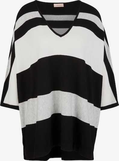 TRIANGLE Pullover mit Streifenmuster in schwarz, Produktansicht
