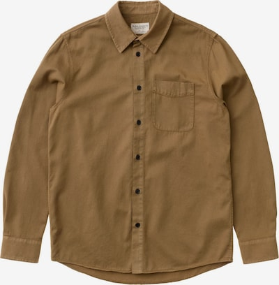 Nudie Jeans Co Hemd ' Chet Pigment Dye ' in braun, Produktansicht