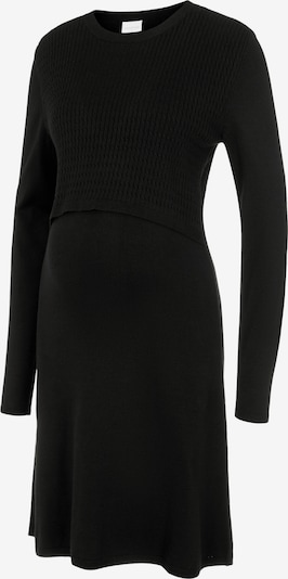MAMALICIOUS Robes en maille 'MLSTELLA' en noir, Vue avec produit