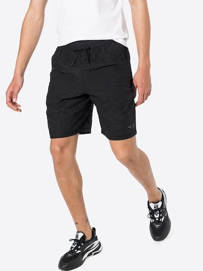 PUMA Športne hlače | siva / črna barva: Frontalni pogled
