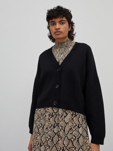 EDITED Knit Cardigan 'Etta' in Black