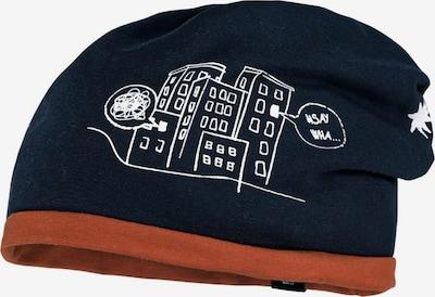 MAXIMO Cepure 'Dino', krāsa - tumši zils / konjaka toņa / balts, Preces skats