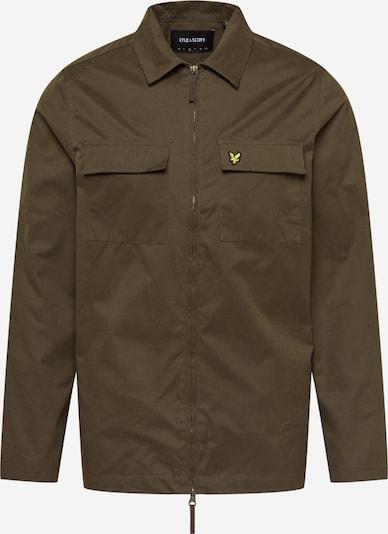 Lyle & Scott Veste mi-saison en umbra / jaune / noir, Vue avec produit