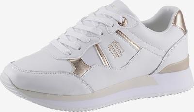 arany / fehér TOMMY HILFIGER Rövid szárú edzőcipők, Termék nézet