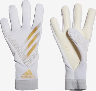 ADIDAS PERFORMANCE Sporthandschuhe 'X 20 Pro' in gold / weiß, Produktansicht