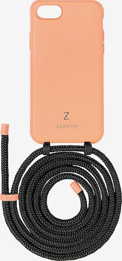 ZAPHYR Handyhülle mit Handykette 'iPhone 7/8/SE (2020)' in orange / schwarz, Produktansicht