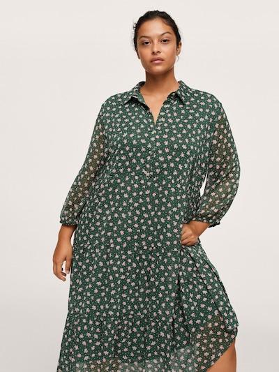 MANGO Blusenkleid 'VERDEJO1' in grün / pink / weiß, Modelansicht