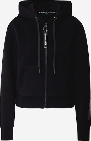GUESS Fleecejacke 'AKILAH' in schwarz / weiß, Produktansicht