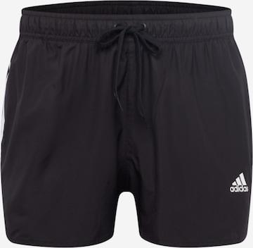ADIDAS PERFORMANCE Athletic Swim Trunks in Black