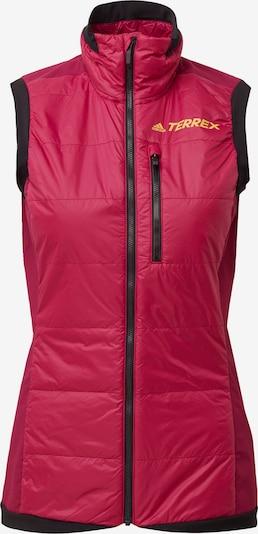 ADIDAS PERFORMANCE Sportbodywarmer in de kleur Sinaasappel / Pink / Zwart, Productweergave