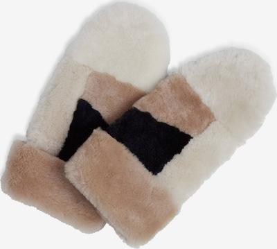 MARKBERG Μονοκόμματα γάντια 'Catelyn' σε καφέ / μαύρο / λευκό, Άποψη προϊόντος