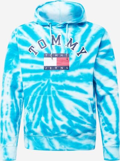 Tommy Jeans Sweat-shirt en bleu marine / aqua / rouge / blanc, Vue avec produit