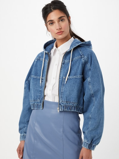 BDG Urban Outfitters Jacke in blue denim: Frontalansicht