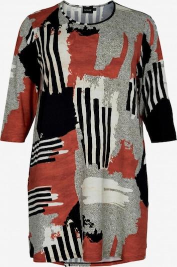 GOZZIP Kleid 'Inge' in grau / rot / schwarz / weiß, Produktansicht