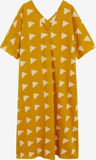 MANGO Kleid 'Milos' in senf / weiß, Produktansicht