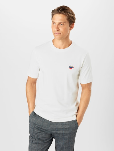 SELECTED HOMME T-Shirt 'HYPE' en blanc cassé: Vue de face