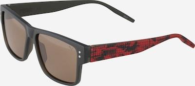 PUMA Sonnenbrille in graphit / dunkelgrau / rot, Produktansicht