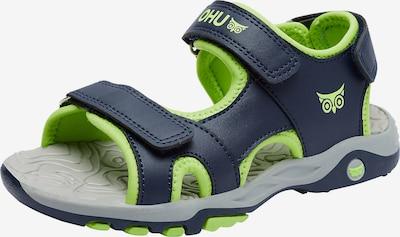 myToys-COLLECTION Sandale 'Connar' in navy / neongrün, Produktansicht