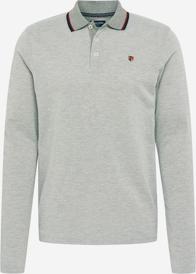 JACK & JONES Shirt in marine / hellgrau / hellrot, Produktansicht