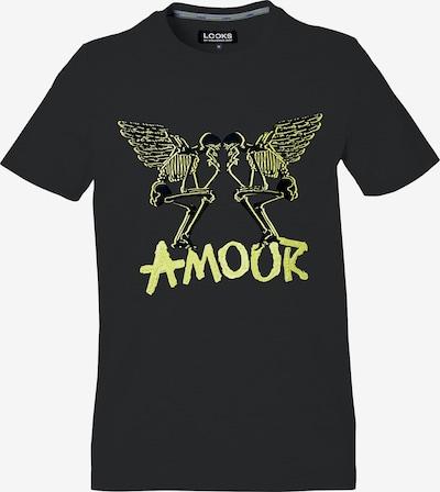LOOKS by Wolfgang Joop T-Shirt ' Amour ' in neongelb / schwarz, Produktansicht