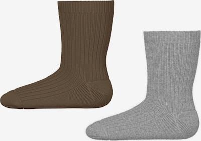 NAME IT Sokken in de kleur Bruin / Grijs, Productweergave
