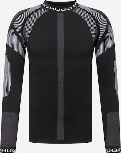 Bluză de molton 'Daffron X' HUGO pe negru / alb, Vizualizare produs