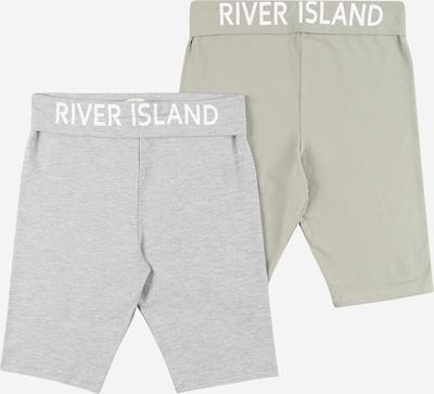 River Island Leggings 'FOLDOVER' in de kleur Grijs gemêleerd / Kaki / Wit, Productweergave