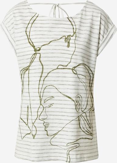 Tricou ESPRIT pe oliv / alb murdar, Vizualizare produs