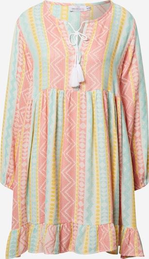 Zwillingsherz Robe d'été 'Karla' en jaune / menthe / rosé / blanc, Vue avec produit