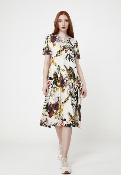 Madam-T Sommerkleid 'SARINDA' in mischfarben / naturweiß, Modelansicht