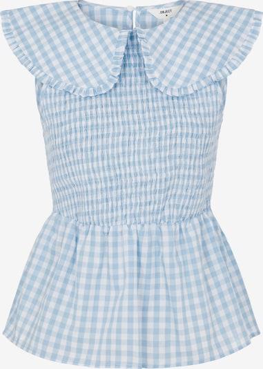 OBJECT Bluse 'Sasha' in hellblau / weiß, Produktansicht