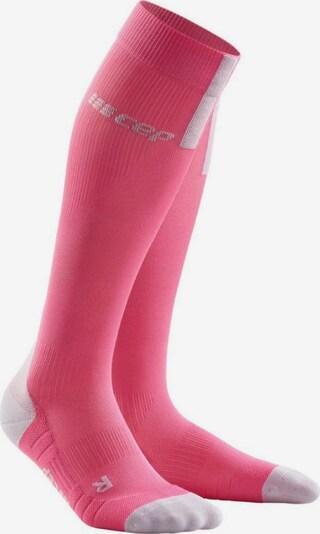 CEP Socken ' CEP run socks 3.0 ' in hellgrau / pink, Produktansicht