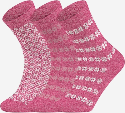 FALKE Socken in fuchsia / weiß, Produktansicht