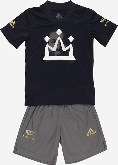ADIDAS PERFORMANCE Trainingsanzug en goldgelb / grau / schwarz / weiß, Vue avec produit