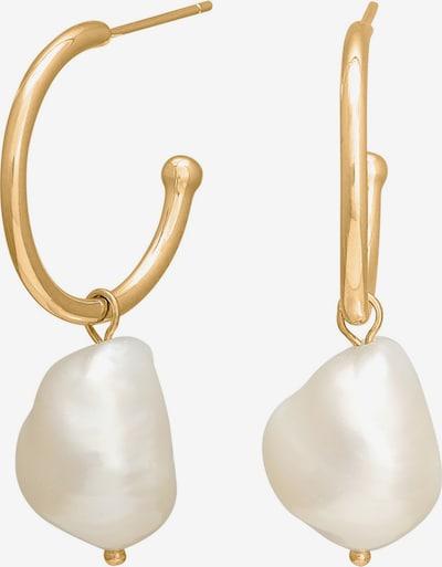 Nordahl Jewellery Ohrringe 'Baroque52' in gold / perlweiß, Produktansicht