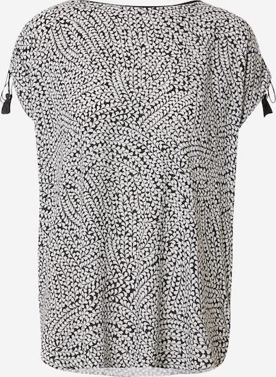 Tricou COMMA pe negru / alb, Vizualizare produs