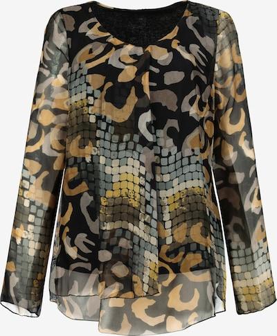 Gina Laura GINA LAURA Damen Bluse, Mustermix, Seidenmischung 728496 in braun / gelb / mischfarben, Produktansicht