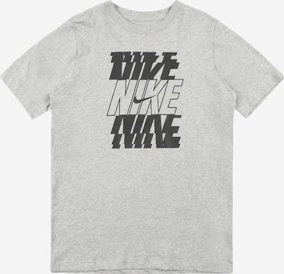 Nike Sportswear T-Krekls, krāsa - pelēks / melns, Preces skats