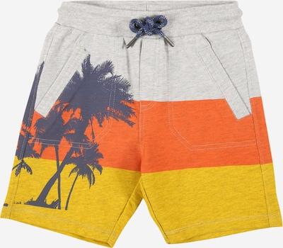 Boboli Broek 'Palmen' in de kleur Navy / Geel / Lichtgrijs / Sinaasappel, Productweergave