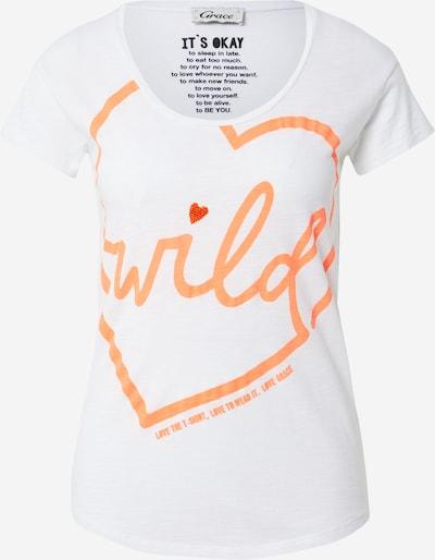 narancs / fehér Grace Póló 'WILD', Termék nézet