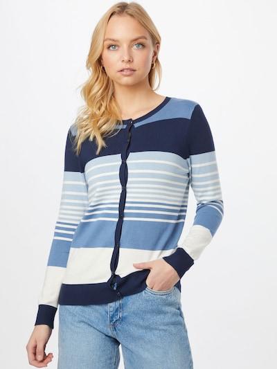 OVS Cardigan en bleu / bleu clair / bleu foncé / blanc, Vue avec modèle