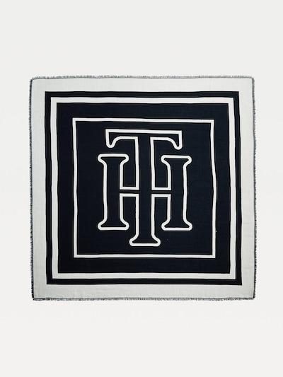 TOMMY HILFIGER Wool Blend Stripe Scarf in schwarz, Produktansicht
