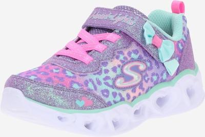 SKECHERS Sneakers 'HEART LIGHTS' in neon blue / purple / purple-blue / pink, Item view