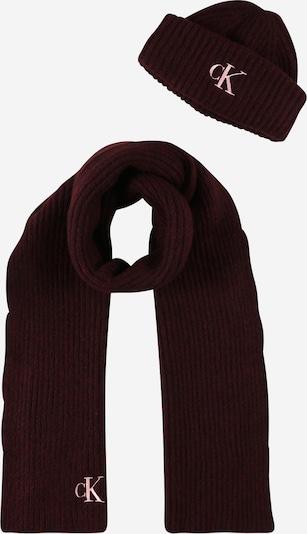 Calvin Klein Jeans Bonnet en rose / framboise / bourgogne, Vue avec produit