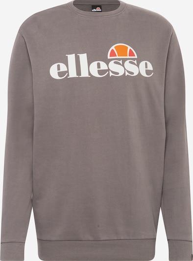 ELLESSE Sweatshirt 'SUCCISO' in grau / orange / weiß, Produktansicht