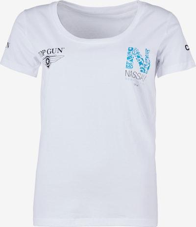 TOP GUN Shirt ' NB20116 ' in de kleur Wit, Productweergave