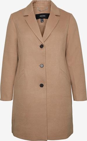 Vero Moda Curve Kevad-sügismantel 'Calacindy', värv pruun